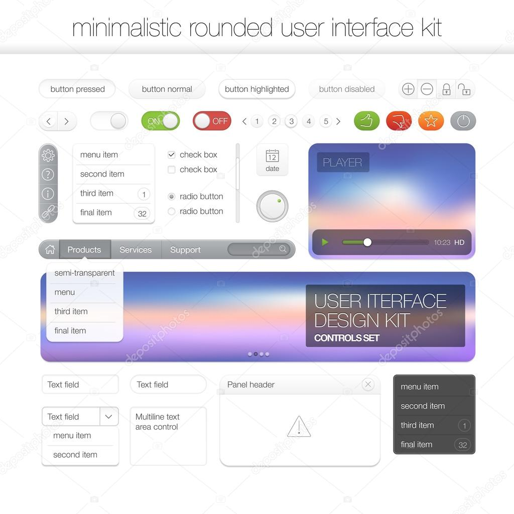 modern user interface screen template kit for mobile smart phone or