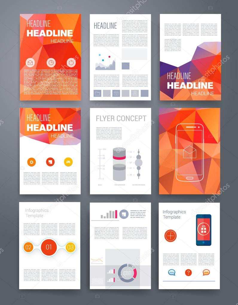 templates vector flyer brochure cover for print web marketing
