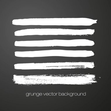 Vector set of grunge brush strokes. Vector brush strokes collection.