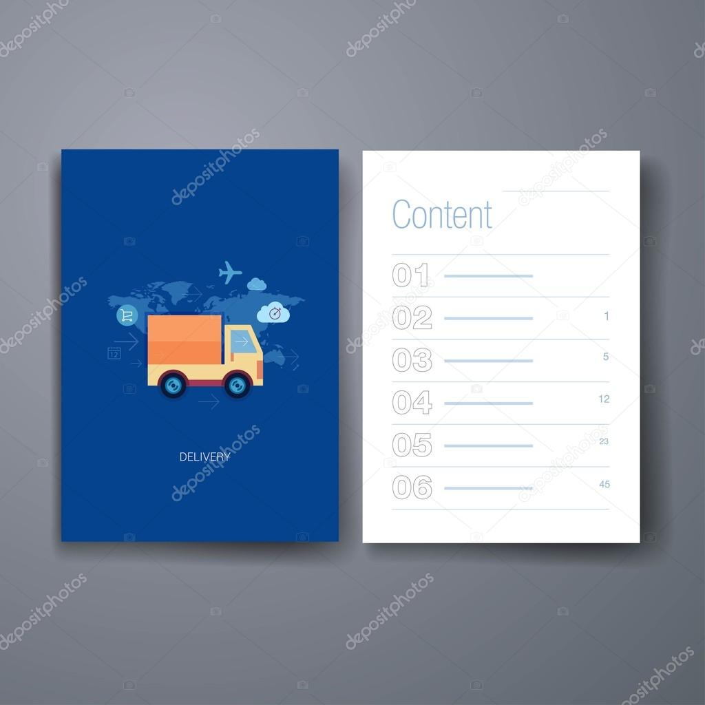 Moderne Online-Shopping-Lieferung flach Symbol Karten-Design-Vorlage ...