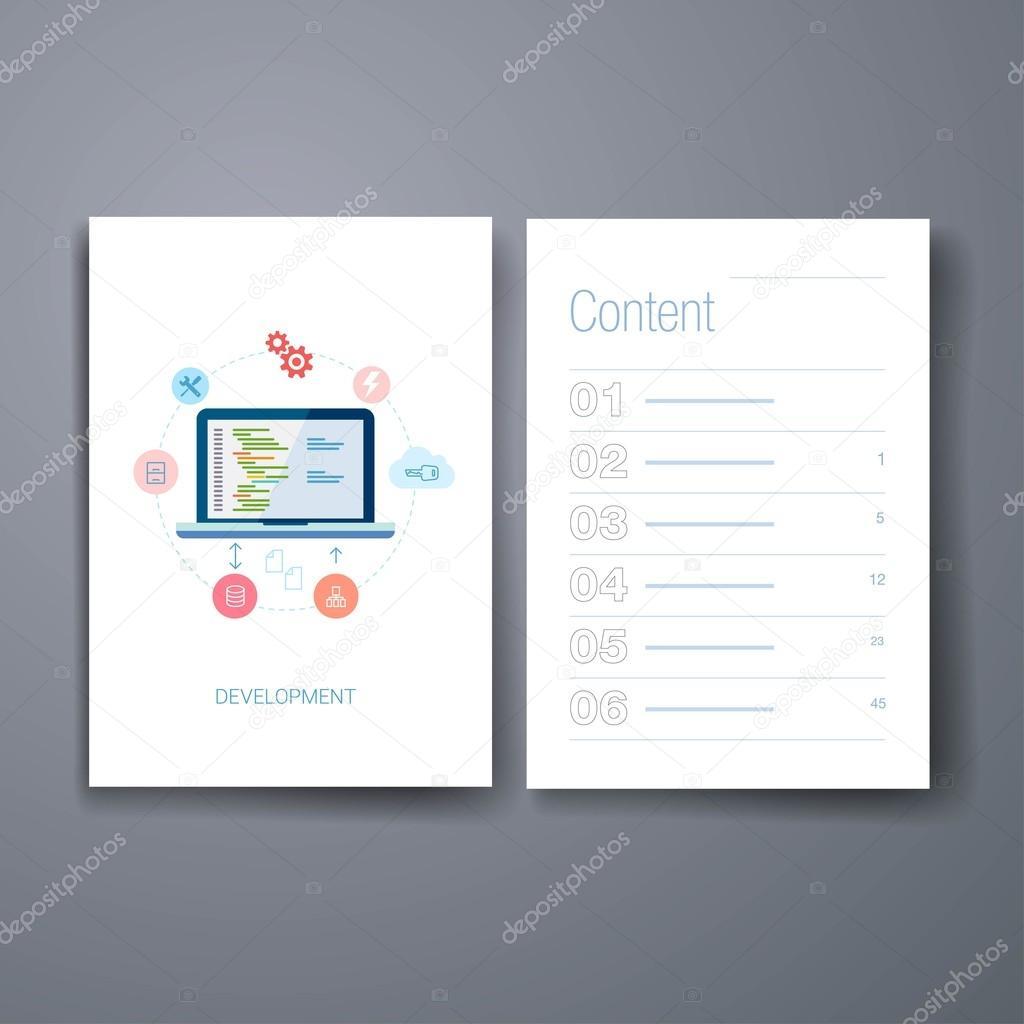 Moderne Anwendung ein Web-Entwicklung flach Symbol Karten-Design ...