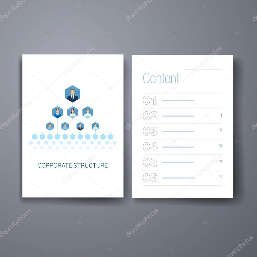 Moderne Business-Organigramm Hierarchie flache Ikonen Karten-Design ...