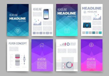 Templates. Design Set of Web, Mail, Brochures. Mobile, Technology, Infographic Concept.