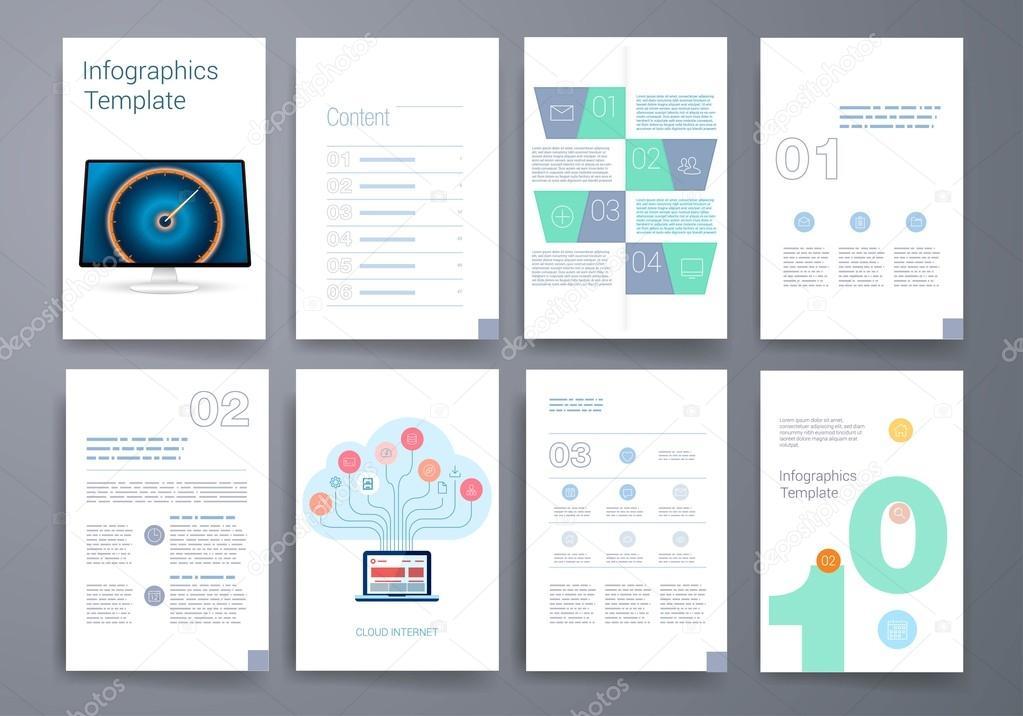 Vorlagen. Design-Set von Web, Mail, Broschüren. Mobile, Technik ...