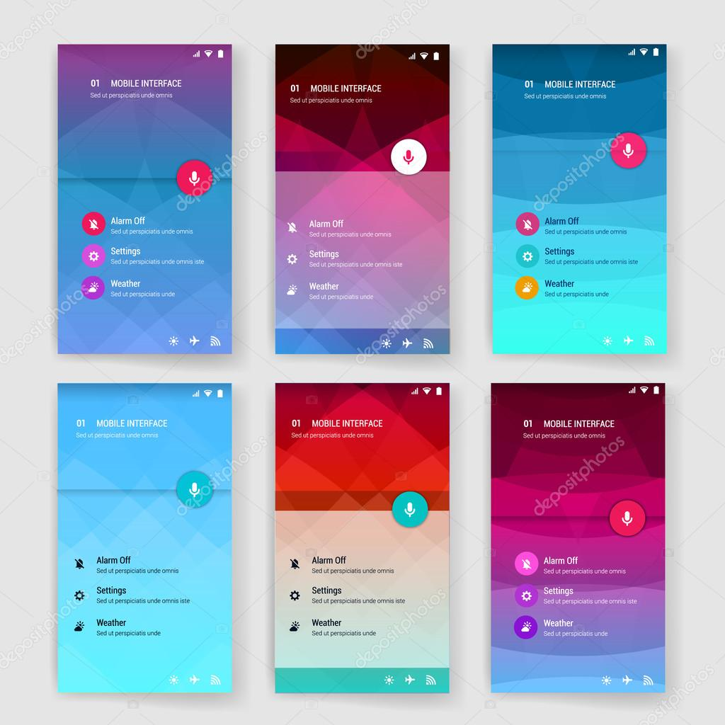 modern user interface screen template for mobile smart phone or web