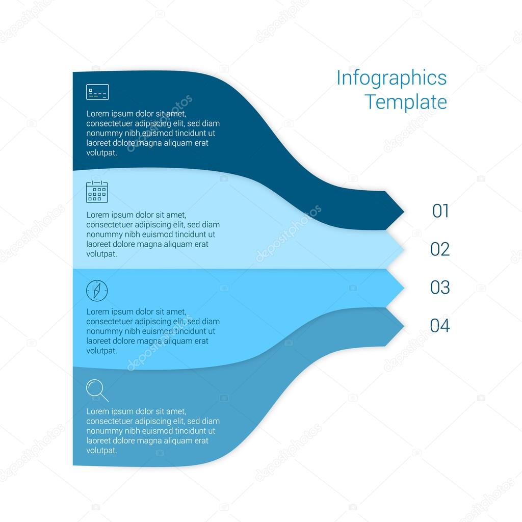 Set of infographic template layouts. Flow chart secuence numbered ...