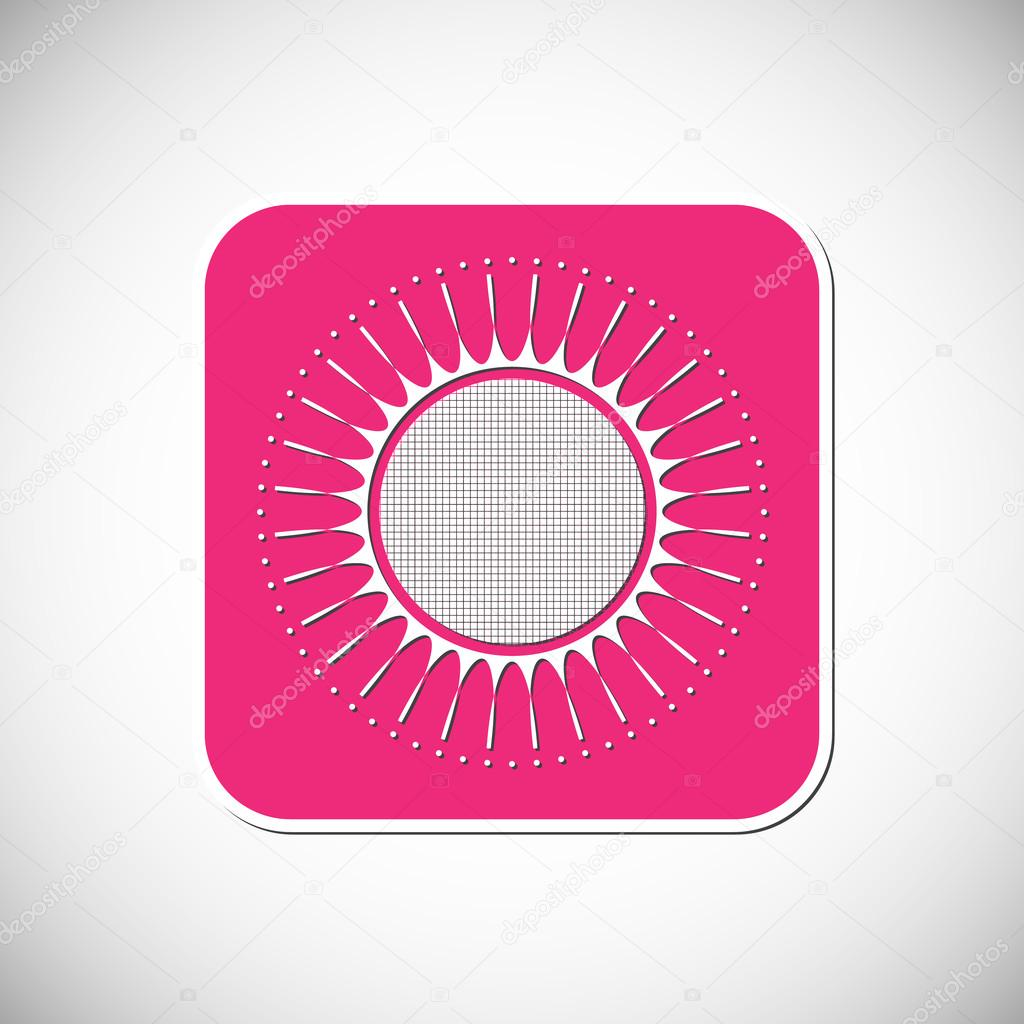Flower icon pink square frame vector illustration stock vector flower icon pink square frame vector illustration stock vector mightylinksfo