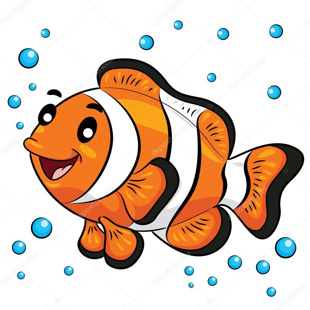 dibujos animados de pez payaso � archivo im225genes