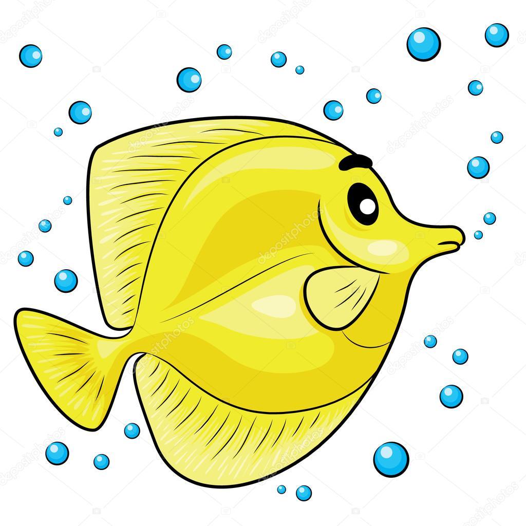 animado pez amarillo dibujos animados de pez tang