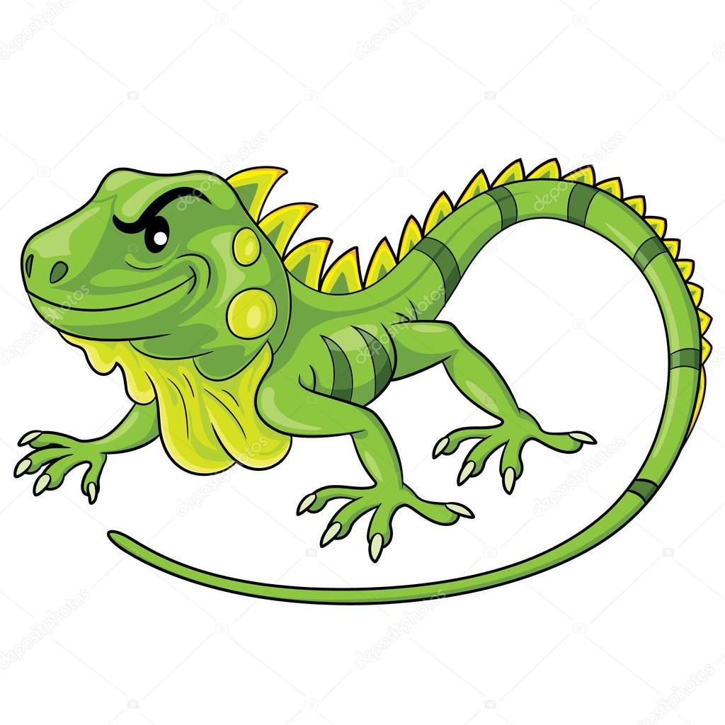 Dibujos Iguanas A Color Dibujo Animado De La Iguana Vector De