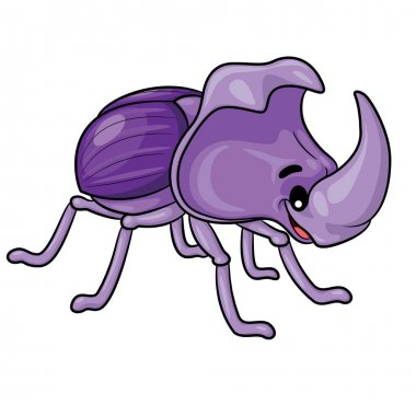 Rhinoceros Beetle Cartoon