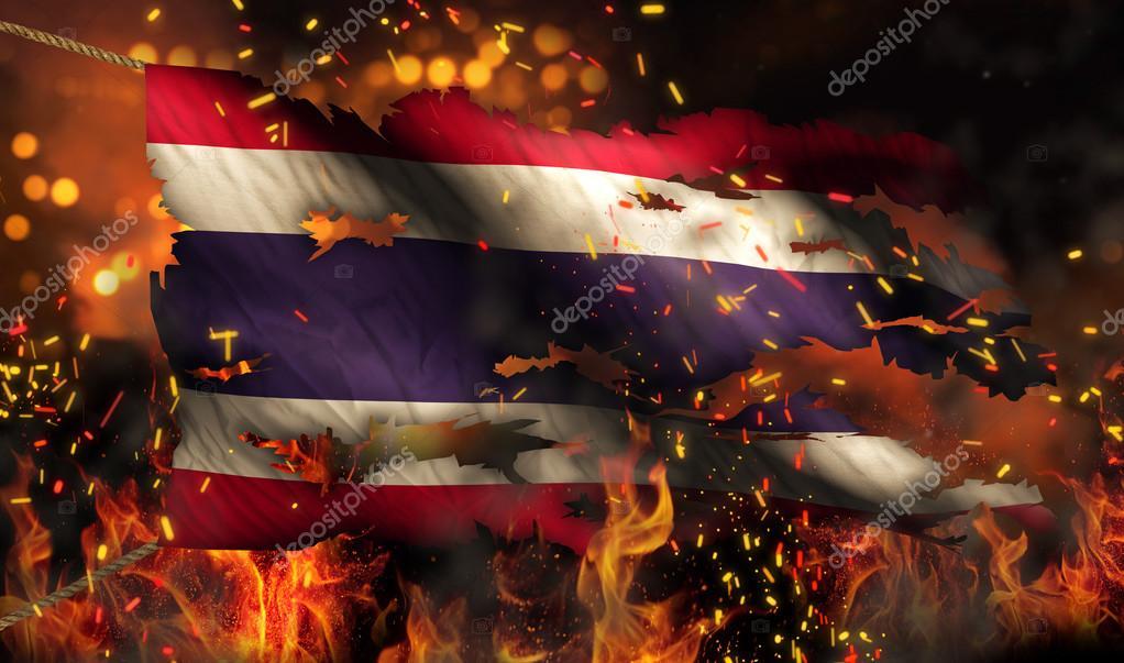 картинки флаг в огне живописи