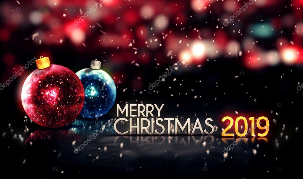 Christmas 2019 Images.Merry Christmas 2019 Night Bokeh Beautiful 3d Background