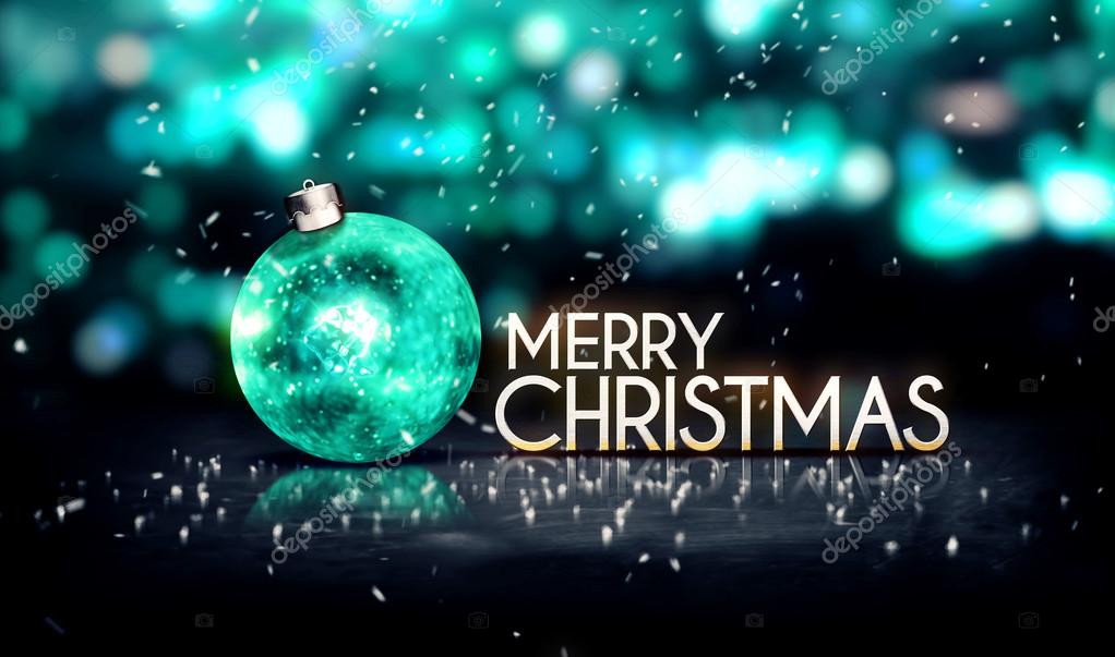 Tosca Silver Merry Christmas Bokeh Beautiful 3D Background — Stock ...