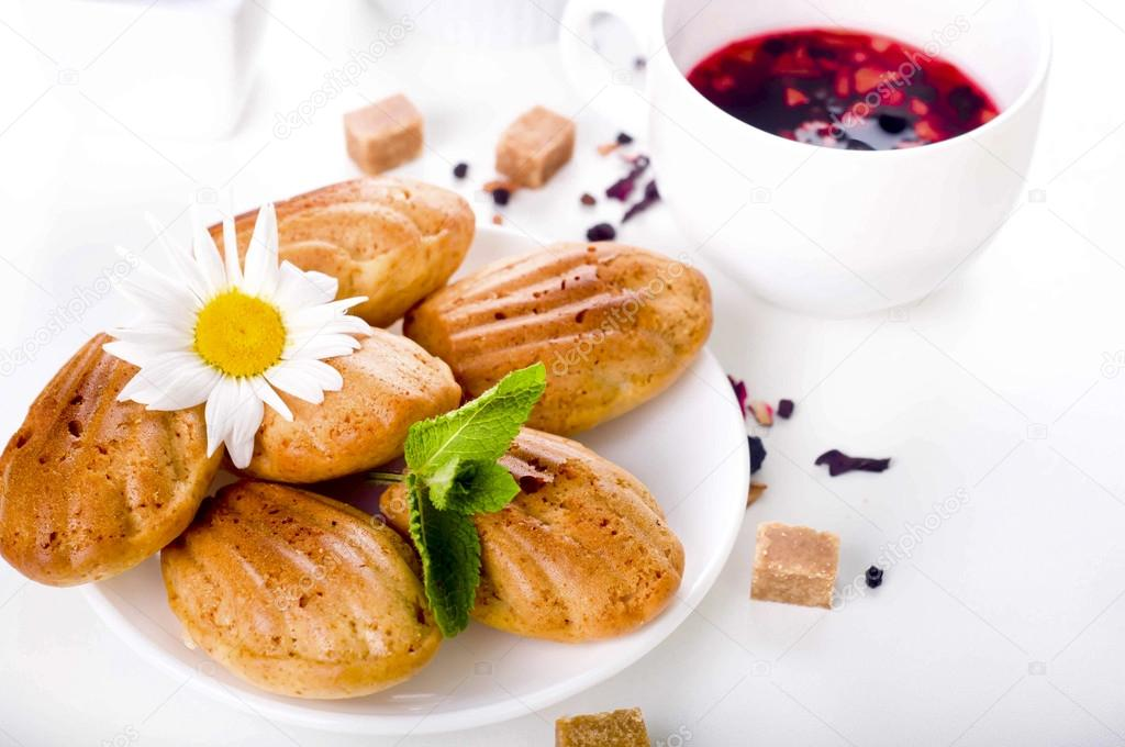 Madeleine házi készítésű sütemények - Stock Fotó © lyulka..