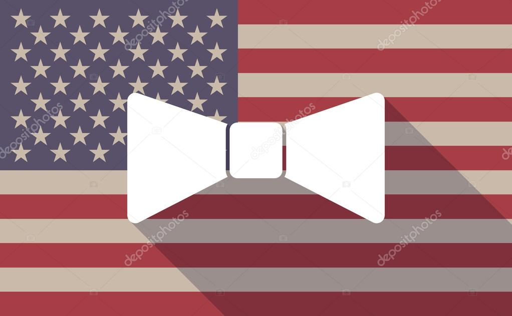 long shadow usa flag icon with a neck tie icon stock vector rh depositphotos com Bow Tie Outline Cartoon Bow Ties