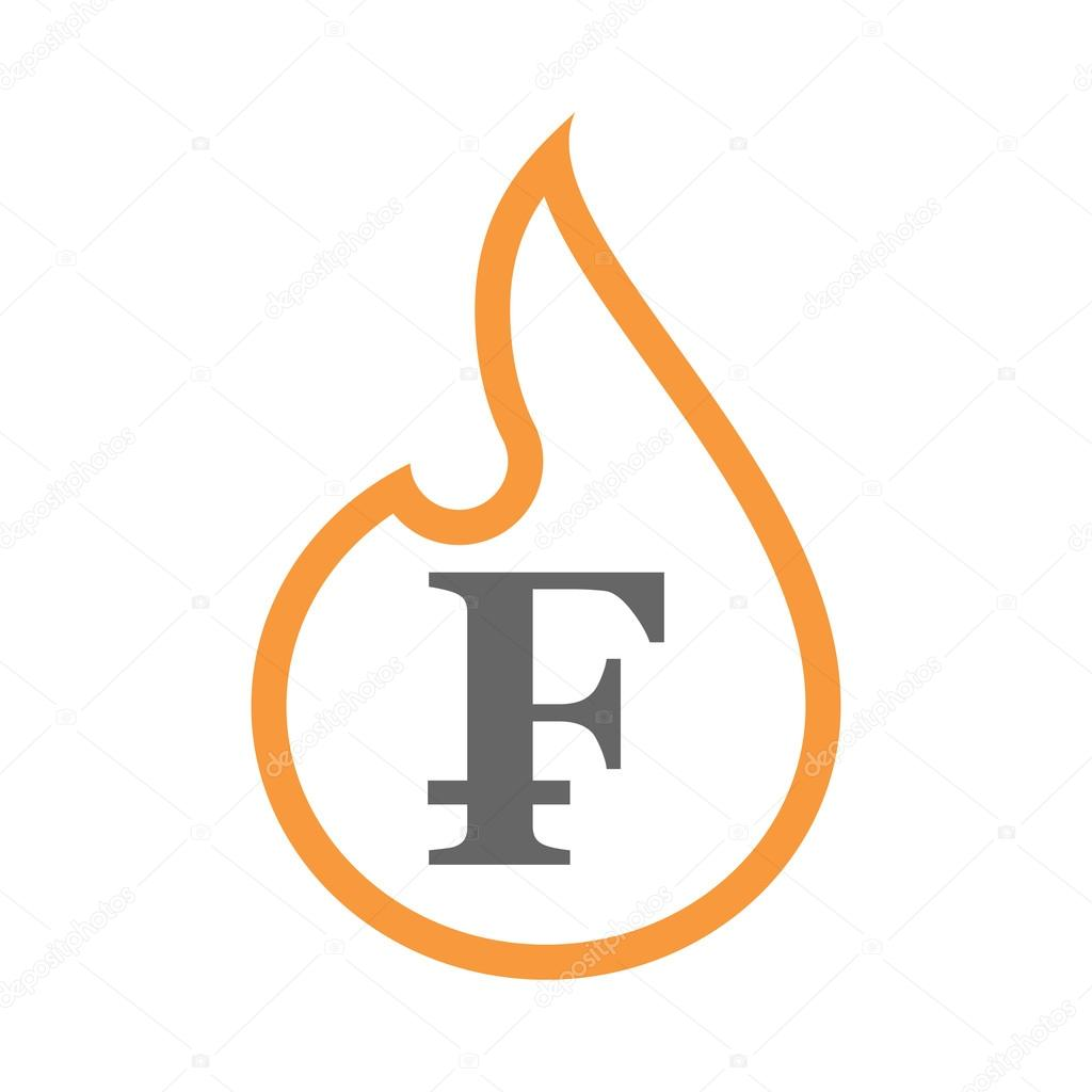 Isolated isolated line art flame icon with a swiss franc sign isolated isolated line art flame icon with a swiss franc sign stock vector buycottarizona Images
