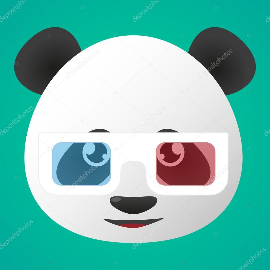 Avatar Panda Usando óculos