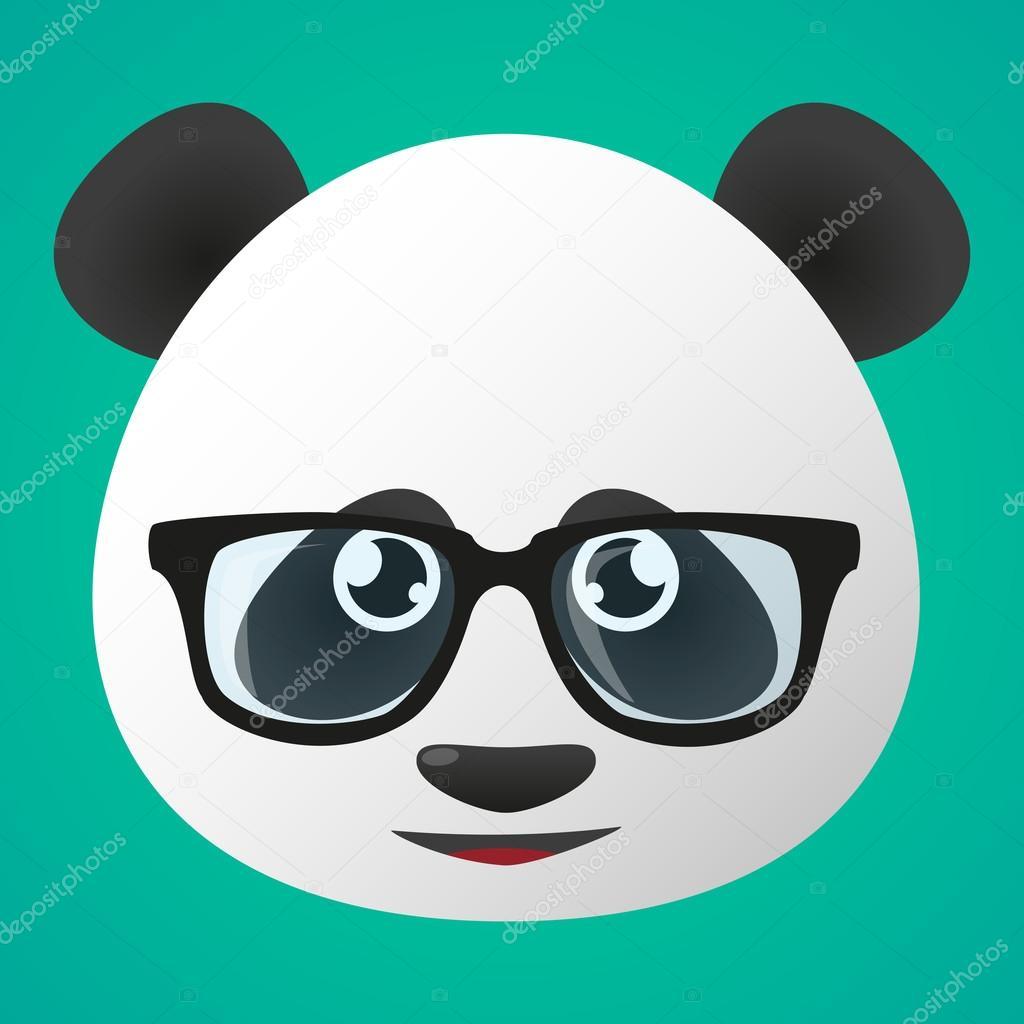 Avatar di panda con gli occhiali u2014 vettoriali stock © jpgon #53257435