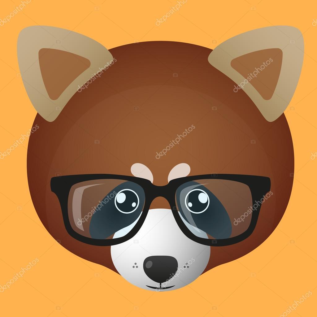 Red Panda Avatar Wearing Glasses