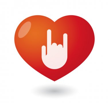 Heart with a hand
