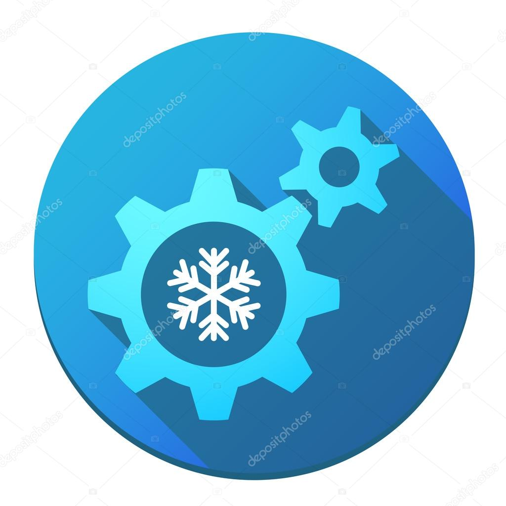 Gears with a snow flake
