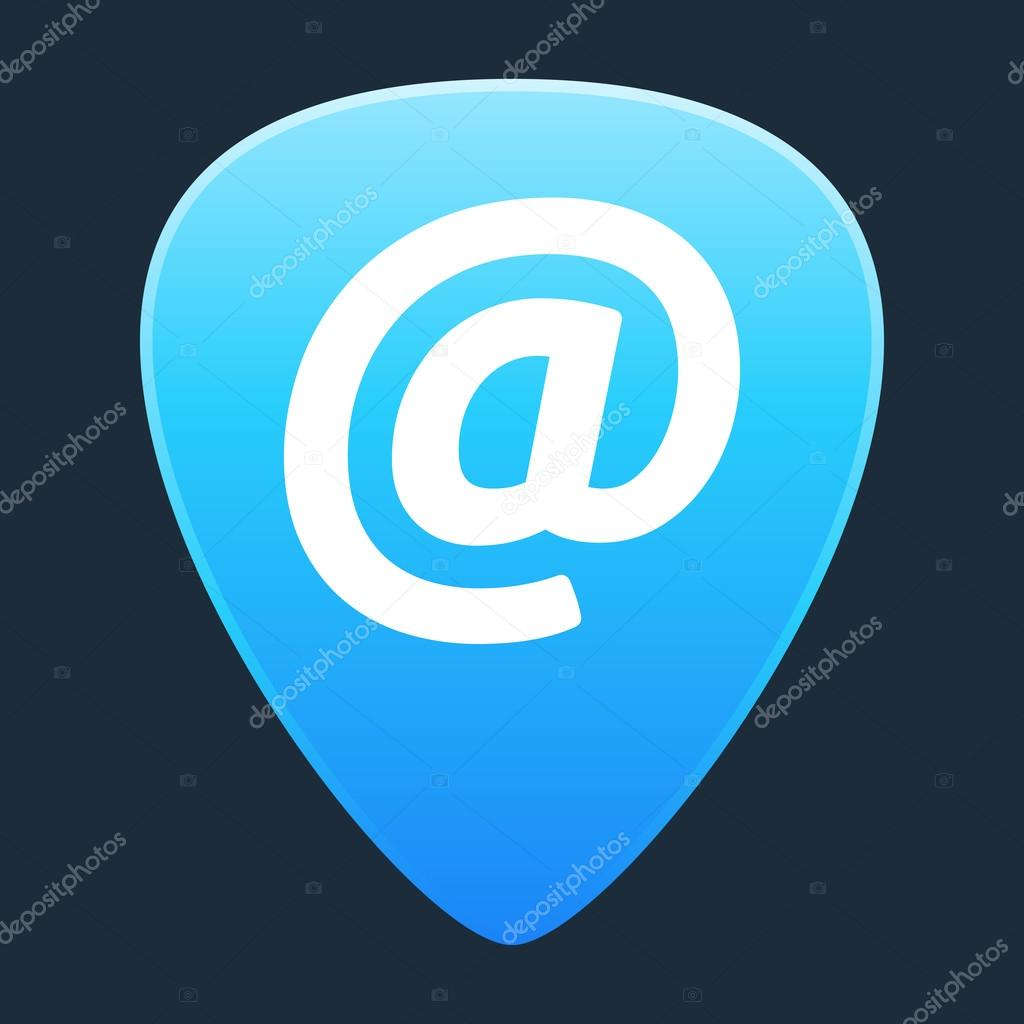 Guitarra elegir con un signo de correo electrónico — Archivo ...