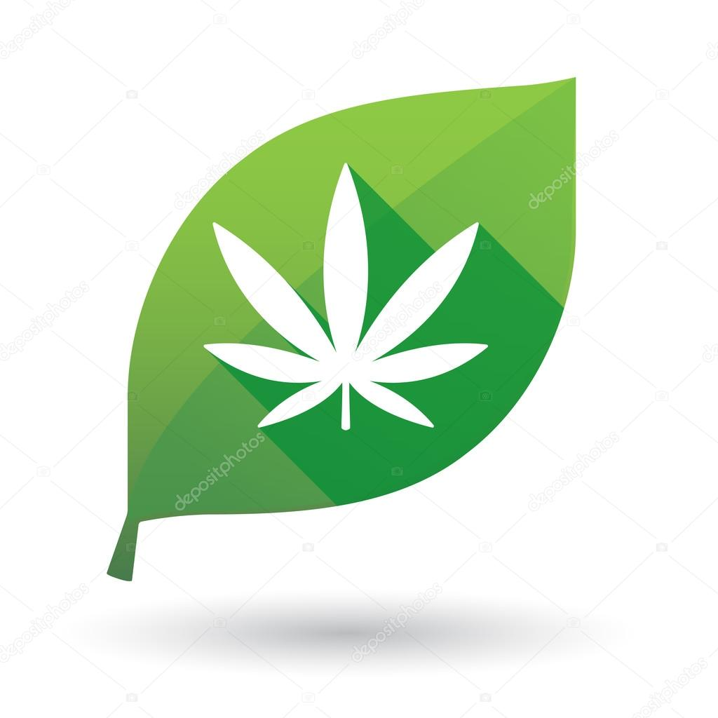 leaf icon with a marijuana sign
