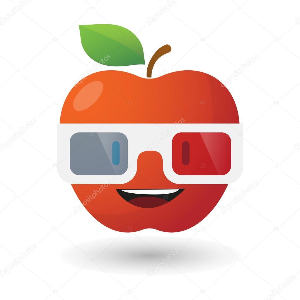 Depositphotos 58426103 stock illustration apple avatar wearing glasses