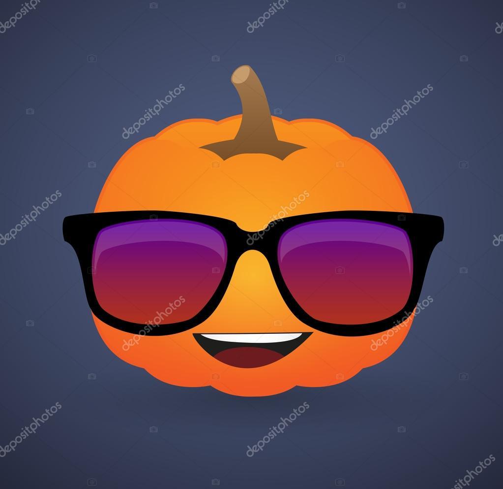 Avatar De Abóbora Bonito Usando óculos