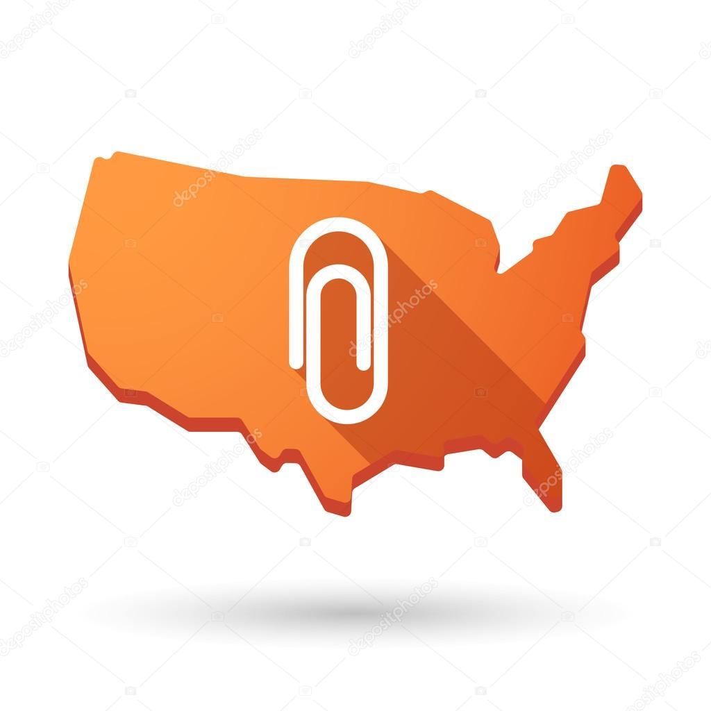 USA map icon with a clip — Stock Vector © jpgon #60992503