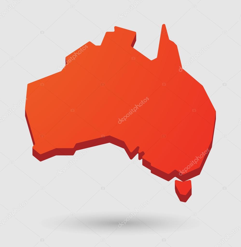 Australia Map Shape.Red Australia Map Shape Icon Stock Vector C Jpgon 62284397