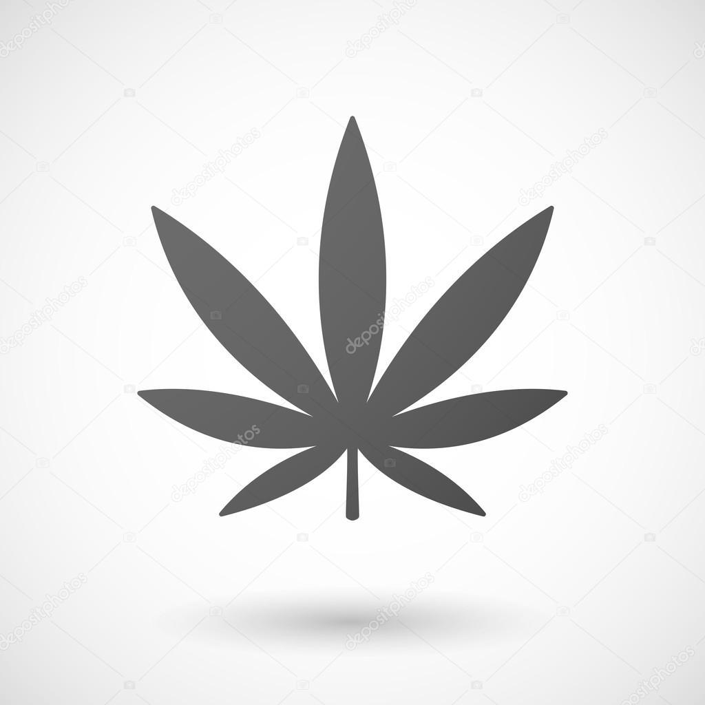 marijuana leaf  icon on white background