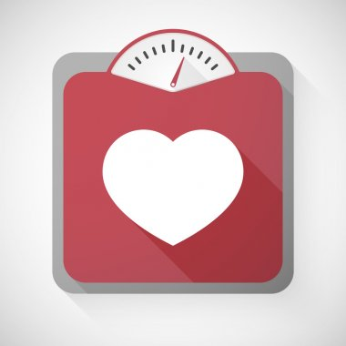Illustration of a weight scale with a heart clip art vector