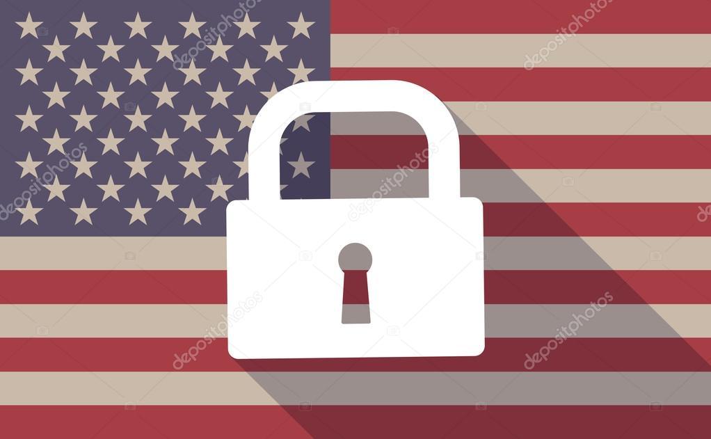 Lock Lock Usa usa flag icon with a lock pad stock vector jpgon 73027137