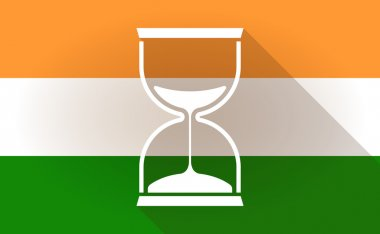 India flag icon with a sand clock
