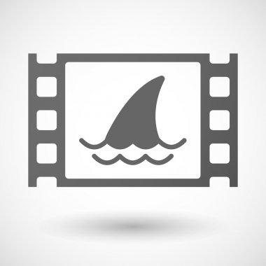 35mm film frame with a shark fin