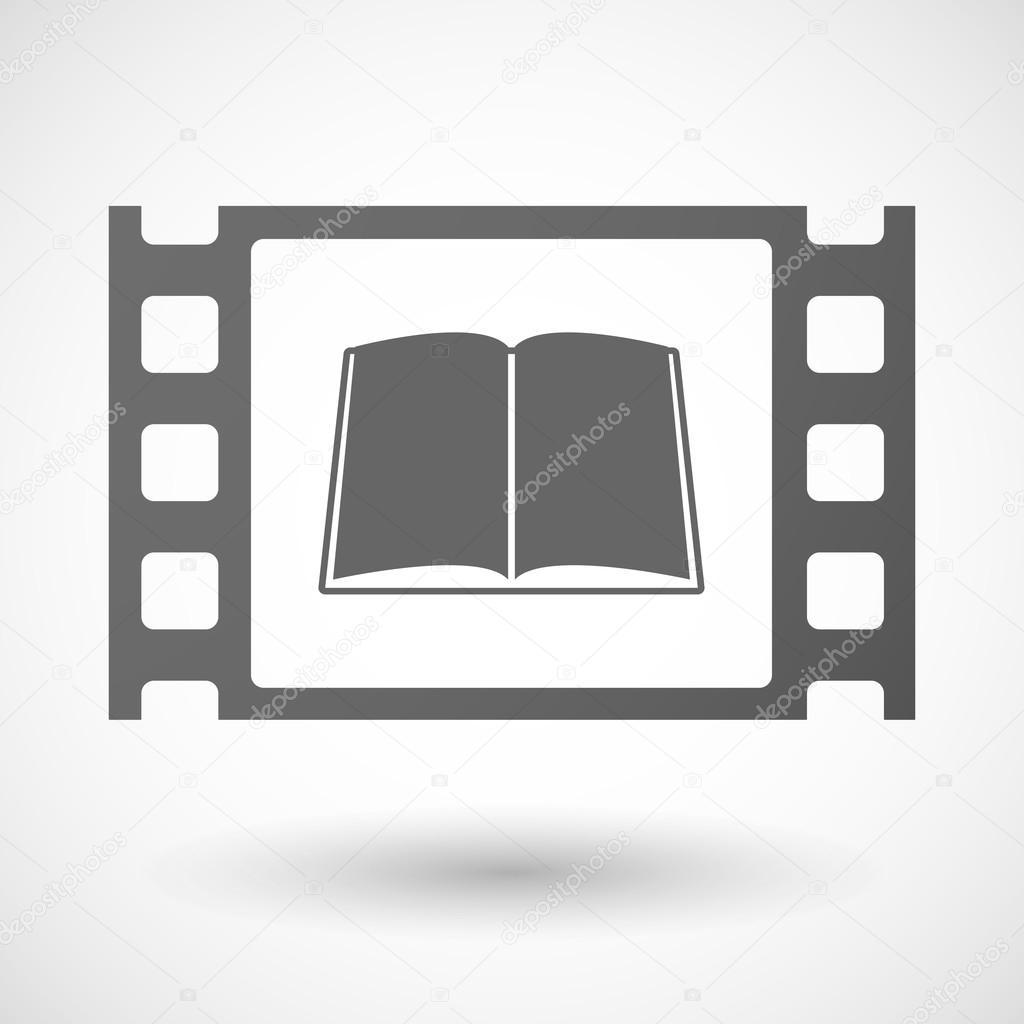 35mm-Film-Frame mit einem Buch — Stockvektor © jpgon #77197391