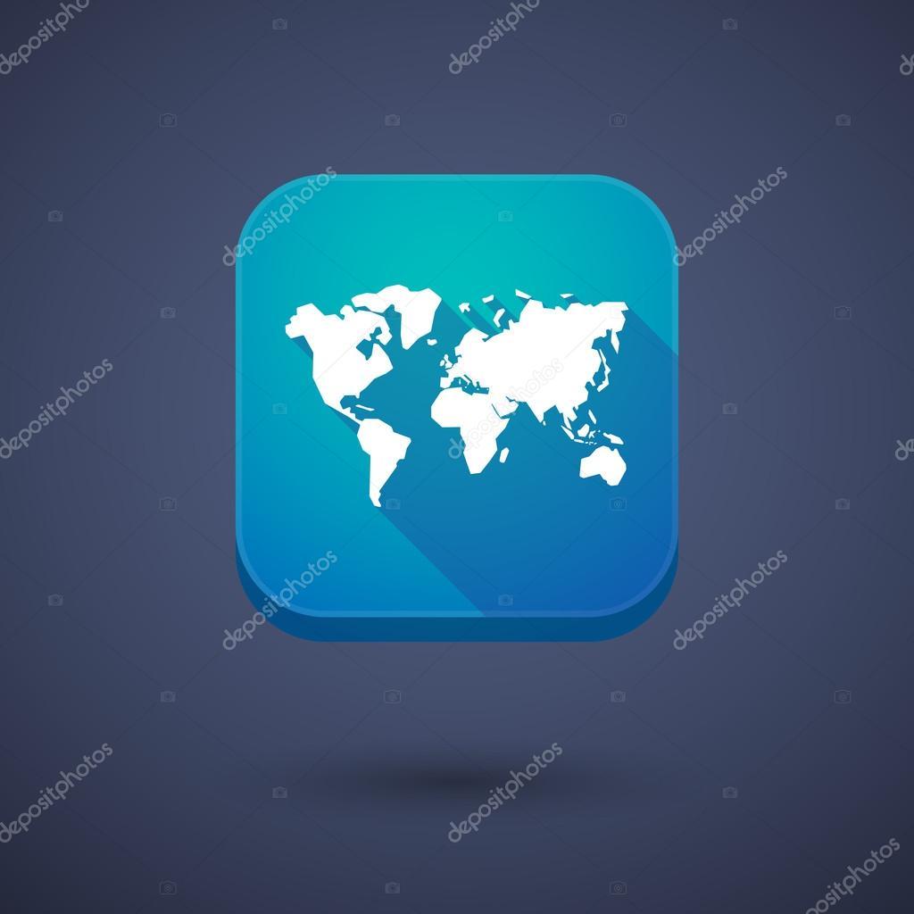 App button with a world map vector de stock jpgon 77306360 app button with a world map vector de stock gumiabroncs Choice Image