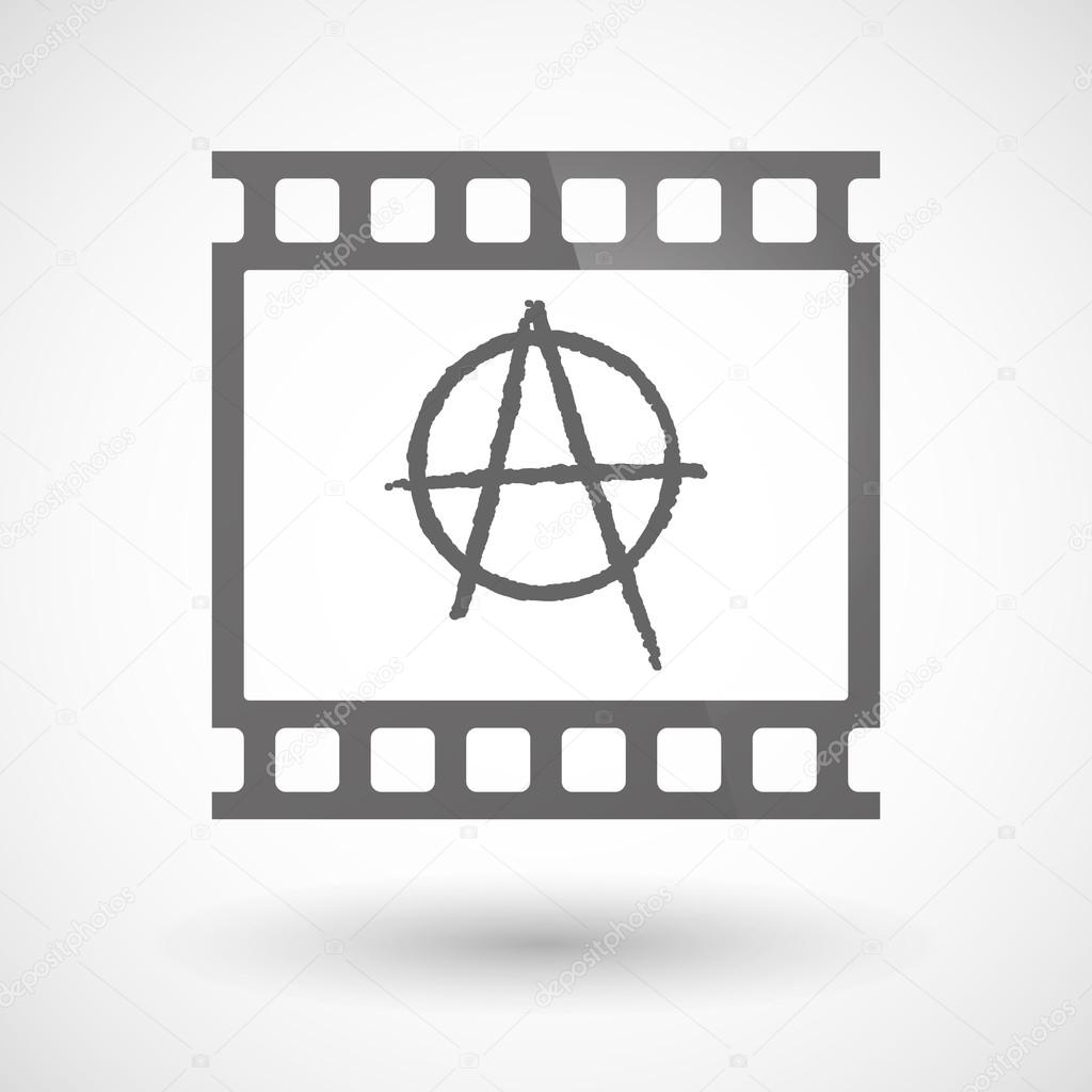 Photographic film icon with an anarchy sign stock vector jpgon photographic film icon with an anarchy sign stock vector 80776690 buycottarizona