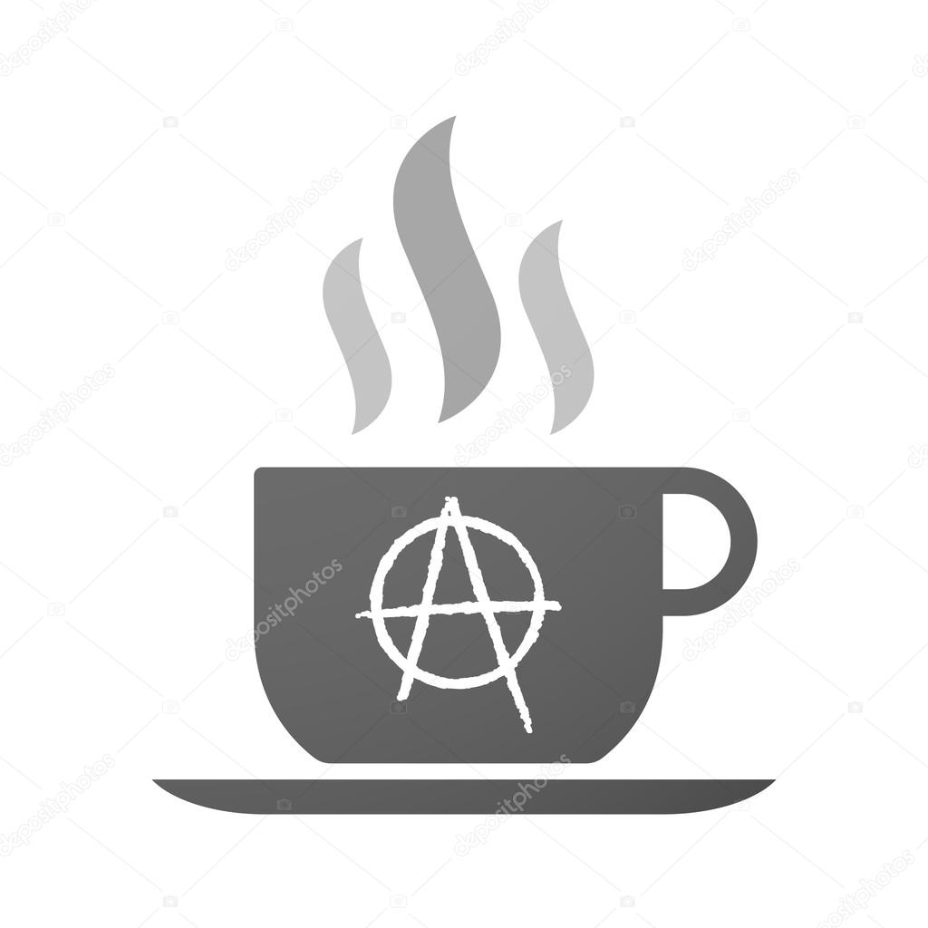 Cup of coffee icon with an anarchy sign stock vector jpgon cup of coffee icon with an anarchy sign stock vector buycottarizona