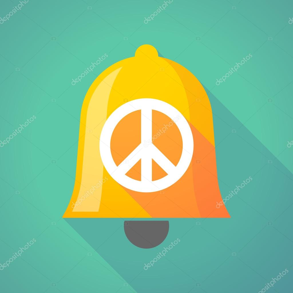 Bell Icon With A Peace Sign Stock Vector Jpgon 81595550