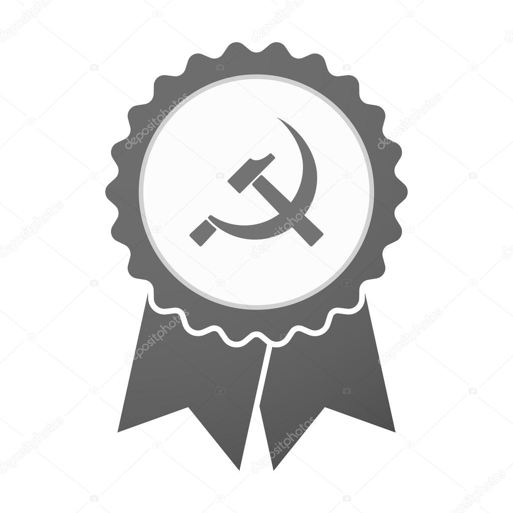 Vector Badge Icon With The Communist Symbol Stock Vector Jpgon