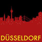 Fotografie Abstrakte Düsseldorf Skyline, mit verschiedenen Sehenswürdigkeiten, mit Städten
