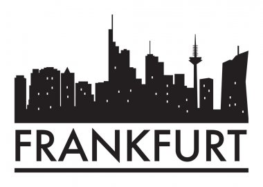 Abstract Frankfurt, skyline, with various landmarks