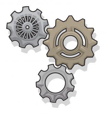 Gears, cogs set
