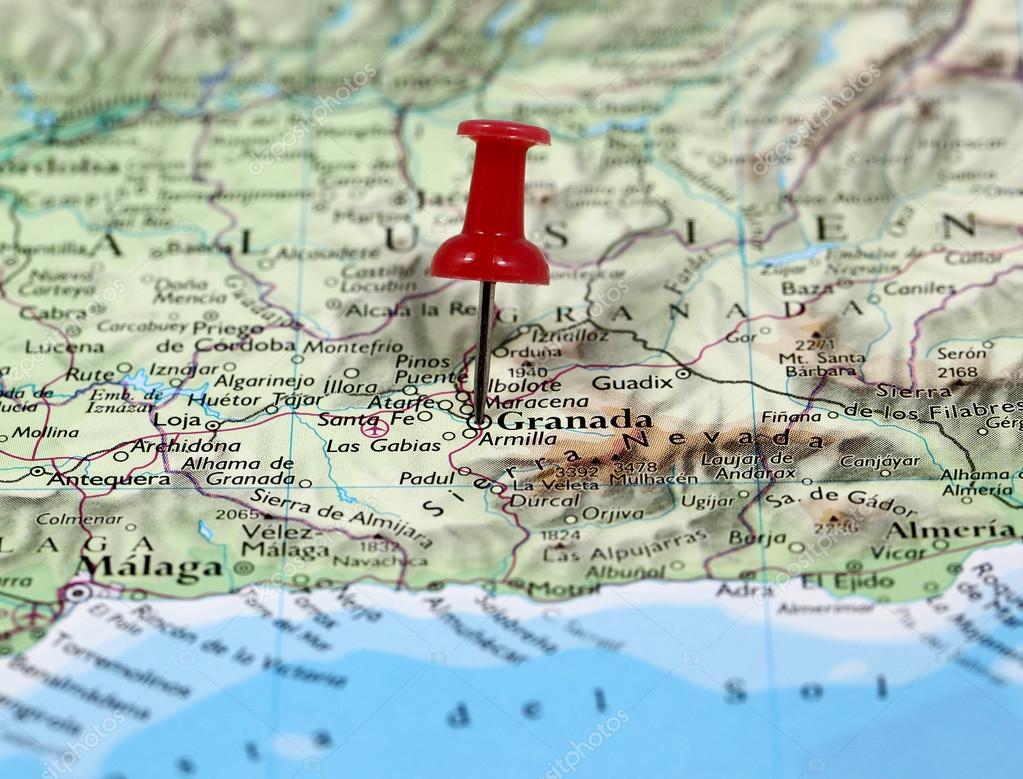 Karta Spanien Granada.Granada I Spanien Stockfotografi C Bobby22 116227092