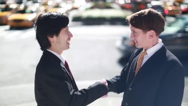 podnikatelé v New York City handshake