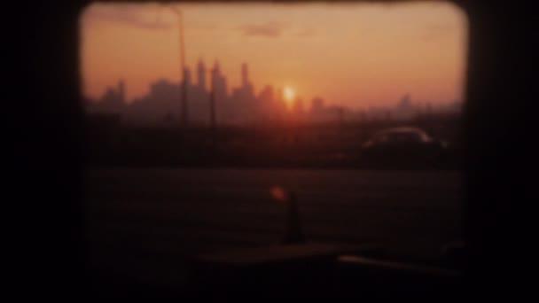 západ slunce nad manhattan