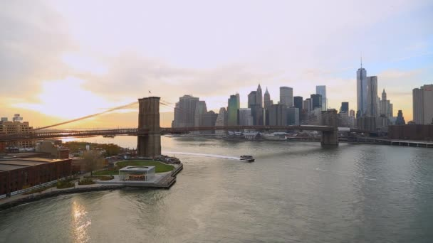 Brooklyn Bridge a centra Panorama